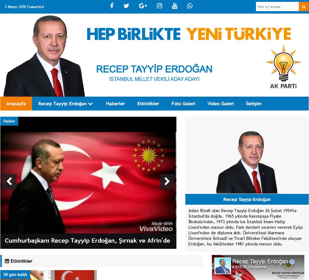 Ak Parti Milletvekili Ve Belediye Başkan Aday Tanıtım Sitesi