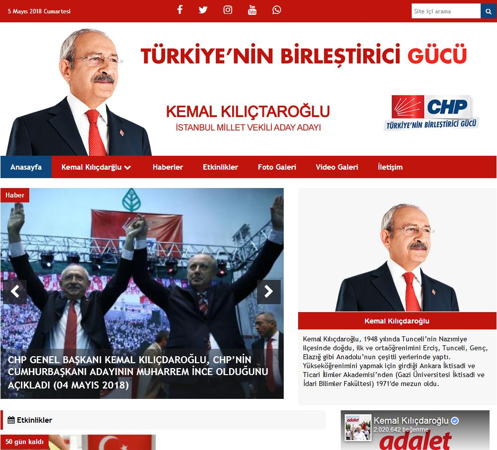 Chp Milletvekili Ve Belediye Başkan Aday Tanıtım Sitesi