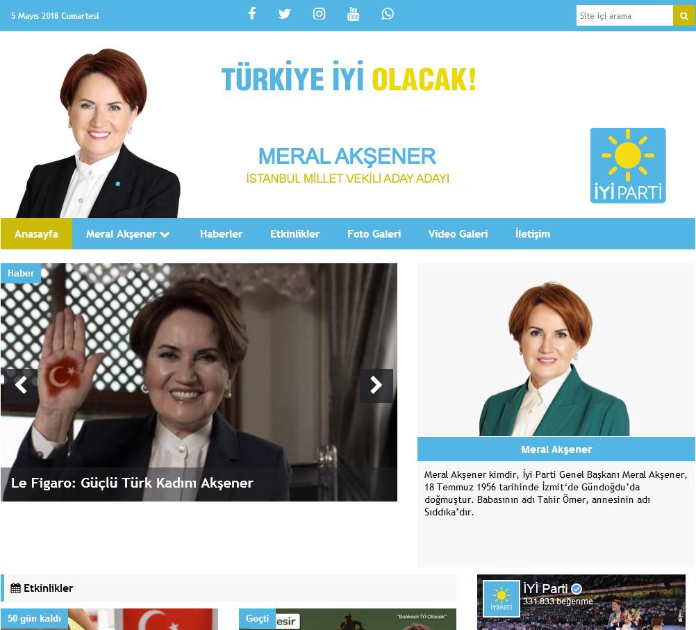 İyi Parti Milletvekili Ve Belediye Başkan Tanıtım Aday Sitesi