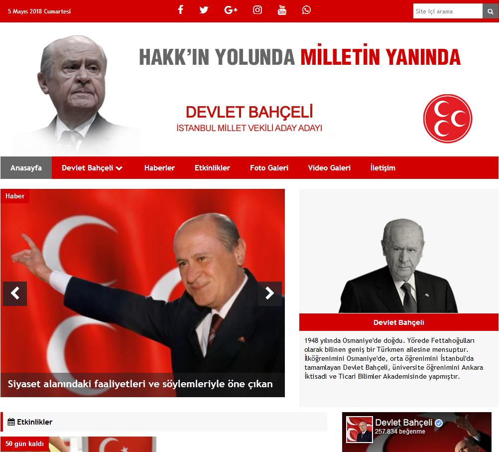 Mhp Milletvekili Ve Belediye Başkan Aday Tanıtım Sitesi
